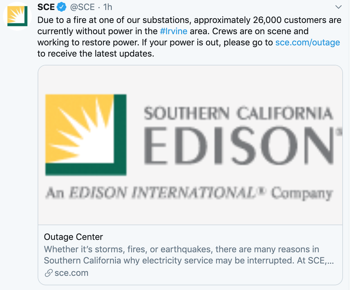 Massive Power Outage in Orange County: 28,000 users affected